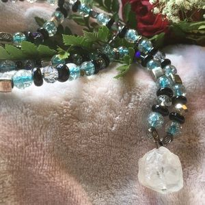 """""""Turquoise & Crystal"""" Necklace"""